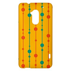Yellow, green and red pattern HTC One Max (T6) Hardshell Case