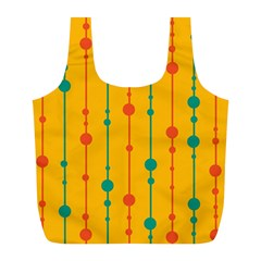 Yellow, green and red pattern Full Print Recycle Bags (L)