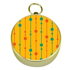 Yellow, green and red pattern Gold Compasses