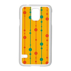 Yellow, green and red pattern Samsung Galaxy S5 Case (White)