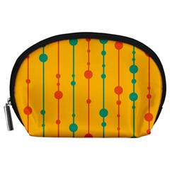 Yellow, green and red pattern Accessory Pouches (Large)