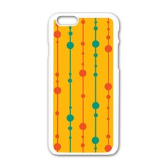 Yellow, green and red pattern Apple iPhone 6/6S White Enamel Case