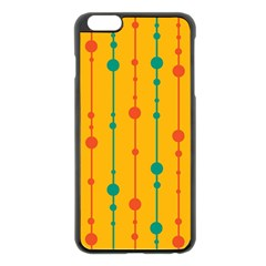 Yellow, green and red pattern Apple iPhone 6 Plus/6S Plus Black Enamel Case