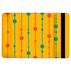 Yellow, green and red pattern iPad Air 2 Flip