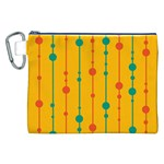 Yellow, green and red pattern Canvas Cosmetic Bag (XXL) Front