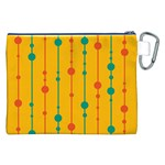 Yellow, green and red pattern Canvas Cosmetic Bag (XXL) Back