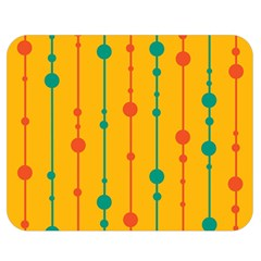 Yellow, green and red pattern Double Sided Flano Blanket (Medium)