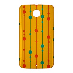 Yellow, green and red pattern Nexus 6 Case (White)