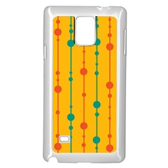 Yellow, green and red pattern Samsung Galaxy Note 4 Case (White)