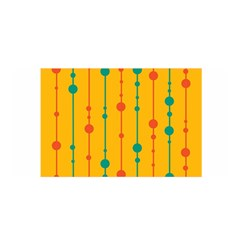 Yellow, green and red pattern Satin Wrap