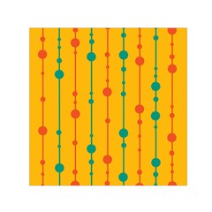 Yellow, green and red pattern Small Satin Scarf (Square)