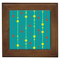 Green, yellow and red pattern Framed Tiles