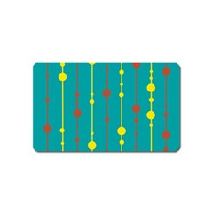 Green, yellow and red pattern Magnet (Name Card)