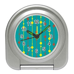Green, yellow and red pattern Travel Alarm Clocks