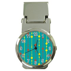 Green, yellow and red pattern Money Clip Watches