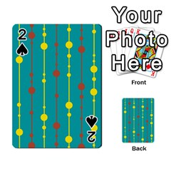 Green, yellow and red pattern Playing Cards 54 Designs