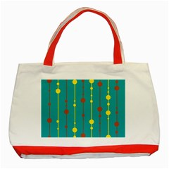 Green, yellow and red pattern Classic Tote Bag (Red)