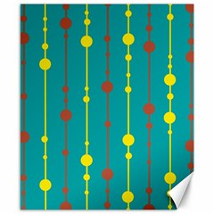 Green, yellow and red pattern Canvas 8  x 10