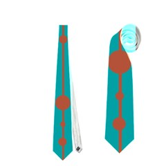 Green, yellow and red pattern Neckties (Two Side)