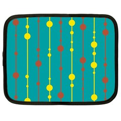 Green, yellow and red pattern Netbook Case (Large)