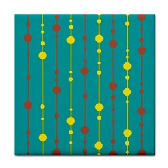 Green, yellow and red pattern Face Towel