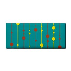 Green, yellow and red pattern Hand Towel