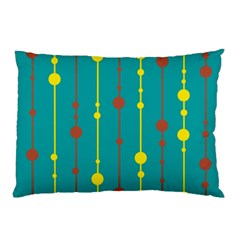 Green, yellow and red pattern Pillow Case
