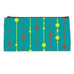 Green, yellow and red pattern Pencil Cases