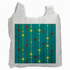 Green, yellow and red pattern Recycle Bag (One Side)