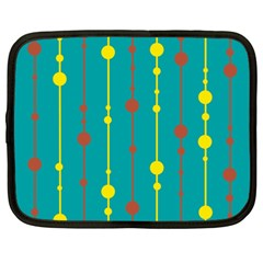 Green, yellow and red pattern Netbook Case (XXL)