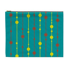 Green, yellow and red pattern Cosmetic Bag (XL)