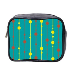Green, yellow and red pattern Mini Toiletries Bag 2-Side