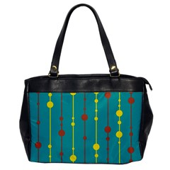 Green, yellow and red pattern Office Handbags