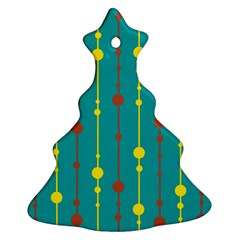 Green, yellow and red pattern Christmas Tree Ornament (2 Sides)