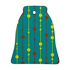 Green, Yellow And Red Pattern Bell Ornament (2 Sides)