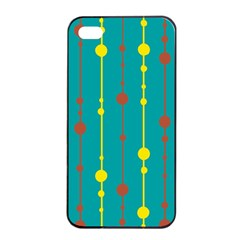 Green, yellow and red pattern Apple iPhone 4/4s Seamless Case (Black)