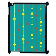Green, yellow and red pattern Apple iPad 2 Case (Black)
