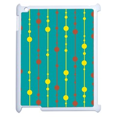 Green, yellow and red pattern Apple iPad 2 Case (White)