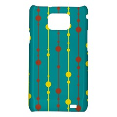 Green, yellow and red pattern Samsung Galaxy S2 i9100 Hardshell Case