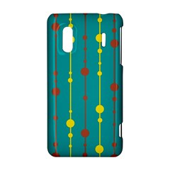 Green, yellow and red pattern HTC Evo Design 4G/ Hero S Hardshell Case