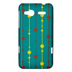 Green, yellow and red pattern HTC Radar Hardshell Case
