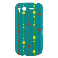 Green, yellow and red pattern HTC Desire S Hardshell Case