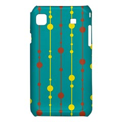 Green, yellow and red pattern Samsung Galaxy S i9008 Hardshell Case