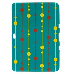 Green, yellow and red pattern Samsung Galaxy Tab 8.9  P7300 Hardshell Case