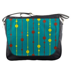 Green, yellow and red pattern Messenger Bags