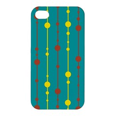 Green, yellow and red pattern Apple iPhone 4/4S Premium Hardshell Case