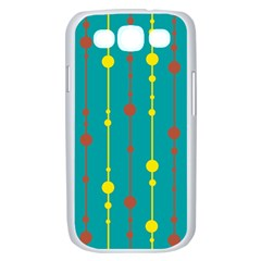Green, yellow and red pattern Samsung Galaxy S III Case (White)