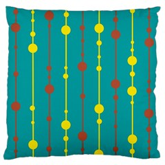 Green, yellow and red pattern Large Cushion Case (One Side)