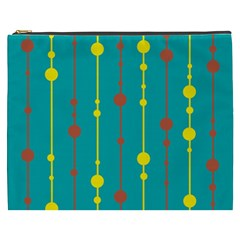 Green, yellow and red pattern Cosmetic Bag (XXXL)