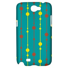 Green, yellow and red pattern Samsung Galaxy Note 2 Hardshell Case
